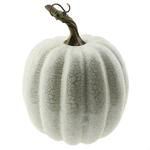 een Dekorativ Faserband Linie Kürbis Künstlich Fälschung Gemüse Dekoration - Weiß (Halloween 1-kürbis)