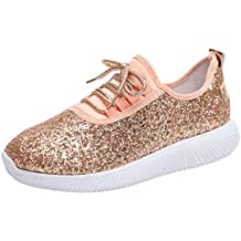 beautyjourney Zapatillas de Tela de Lentejuelas, Calzado Deportivo Casual al Aire Libre para Mujer Zapatos