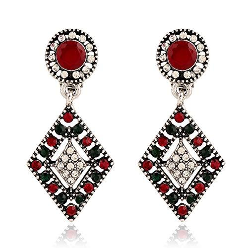 Frauen Clips Ohrring, Silber Farbe Geometrisch der Rhombus