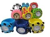 5 X Kinder Kinder Schlag Auf Snap Silikon Band Mickey Nemo Bienen Frosch Panda Hase Armbanduhren Für Partei Geschenktüten Von Fett Catz