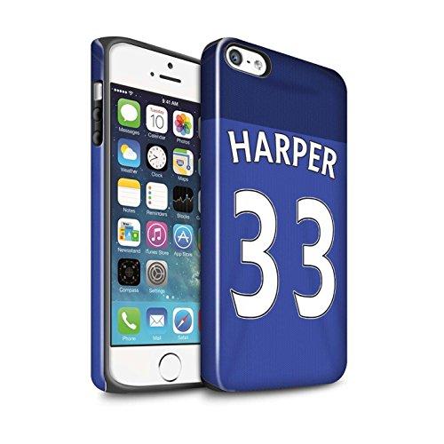 Offiziell Sunderland AFC Hülle / Glanz Harten Stoßfest Case für Apple iPhone SE / Pack 24pcs Muster / SAFC Trikot Home 15/16 Kollektion Harper