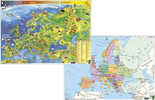 Kindereuropakarte physisch/politisch - DUO-Schreibunterlage klein
