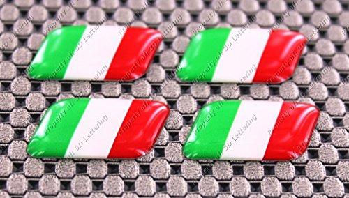Preisvergleich Produktbild Italien Italia Kuppel 3D Aufkleber Aufkleber Set 4PCS Mini