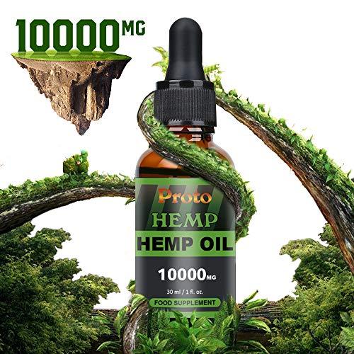 PROTOHEMP Hemp Natural Oil , Vegan Friendly,Powerful formula , 100%High Strength,100%natural and organically grown, GMP Standards(10000mg)