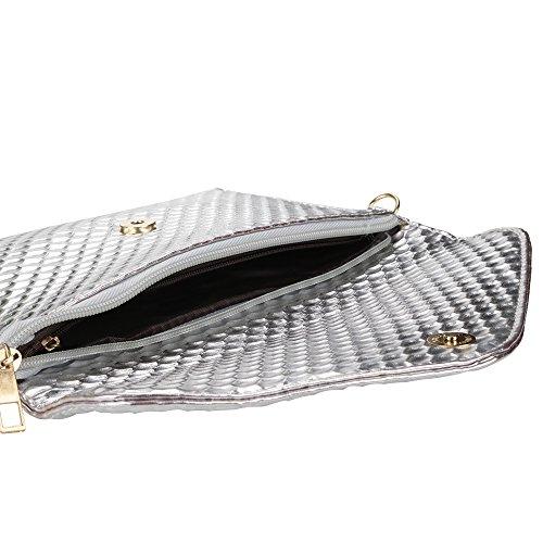 92e6087b6dc4b ... BUOU Tasche Damen Elegant Umschlag Clutches Bag   Abendtasche Umschlag  Clutch Hand Strap Handtasche Schultertasche Unterarmtasche ...