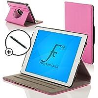 Forefront Cases® Nueva Funda Case Cover Protectora Giratorio de Cuero para Apple iPad Air 2 / iPad 6 – Función automática inteligente de Suspensión/Encendido + Lápiz óptico