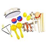 Kinder Musikinstrumente Spielzeug,aPerfectLife 9 PCS Rhythmus Band Instrumente Percussion Starter Set Spielzeug für Kinder