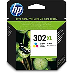 HP 302XL - Cartucho de tinta Original HP 302 XL Tricolor para HP DeskJet 2130, 3630 HP OfficeJet 3830, 4650 HP ENVY 4520