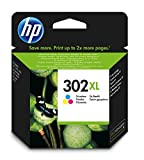 HP 302XL - Cartucho de tinta Original HP 302 XL Tricolor para HP DeskJet 2130, 3630 HP OfficeJet 3830, 4650 HP ENVY 4520