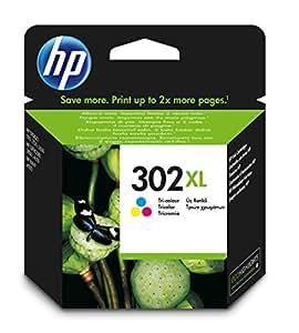 HP 302XL Cartuccia Originale Getto d'Inchiostro ad Alta Capacità, Tricromia