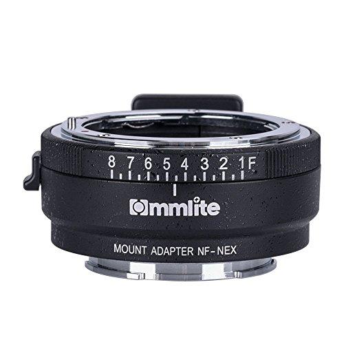 Commlite CM-NF-NEX manueller Fokus-Objektiv-Mount-Adapter für Nikon G, F, A, I, S, D-Objektiv auf Sony NEX E-Mount-Kamera Sony A7 A7R NEX-3 NEX-5 NEX-7 NEX-VG10 mit Blende wählen (Stativ 5n Sony Nex Für)