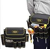 FELICIPP Bolsillos para Herramientas Bolsa de Herramientas de reparación multifunción Pequeño Lienzo Grueso Cinturón de jardín eléctrico Juego de Herramientas (Color : Black)