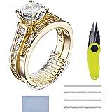 Ringgröße Einsteller Schmuck Guard 16 Stück für Alle Losen Ringe mit Schere und Poliertuch, 4 Größen