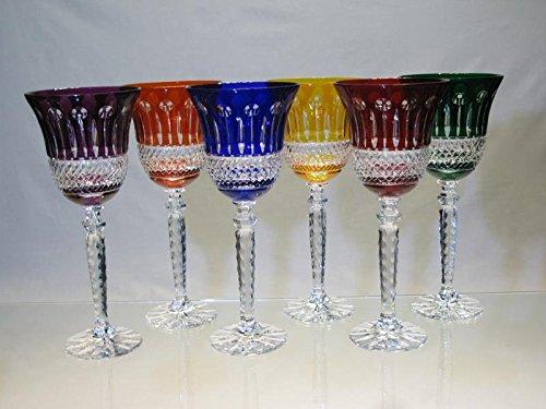 Cristal De Paris - Verre à vin 6 couleurs cristal de bohème