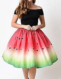 Mayihang vestido falda corto diaria de las mujeres/Mini faldas, Simple una línea algodón