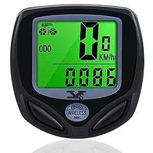 Bicicleta Cuentakilómetros, Ciclocomputador Ordenador Para Bicicleta Impermeable Velocímetro Inalámbrico de Bicicleta Cuentakilómetros para bicicleta, odómetro de bicicleta con Retroiluminac