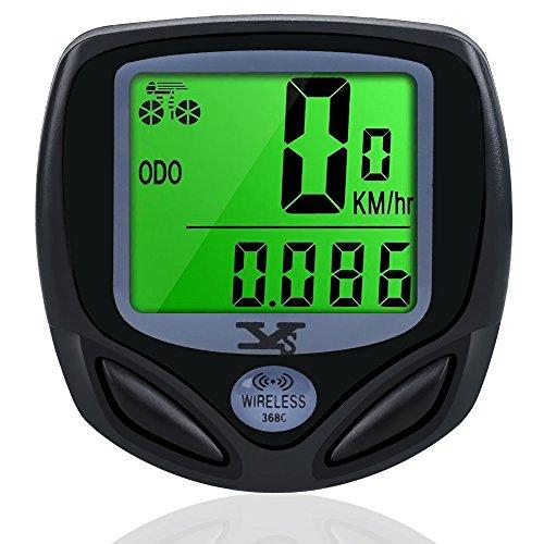Ordinateur de vélo,sans Fil Vélo Compteur de Vitesse Étanche Odomètre Rétro-Éclairé LCD...