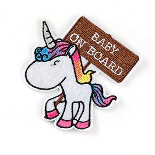 Parche Bordado Del Unicornio Pegatinas Historieta Del Hierro En Parches Para La Ropa De Los Niños Bolsa Sombreros Chaqueta De Bricolaje Accesorios De La Ropa De La Decoración