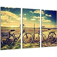 Cuadro Moderno Fotografico Paisaje Bicicletas Vintage, 97 x 62 cm, ref. 26534