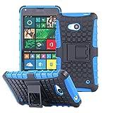 ECENCE Handyhülle Schutzhülle Outdoor Case Cover kompatibel für Microsoft Lumia 640 Dual 640 LTE Handytasche Blau 23020305