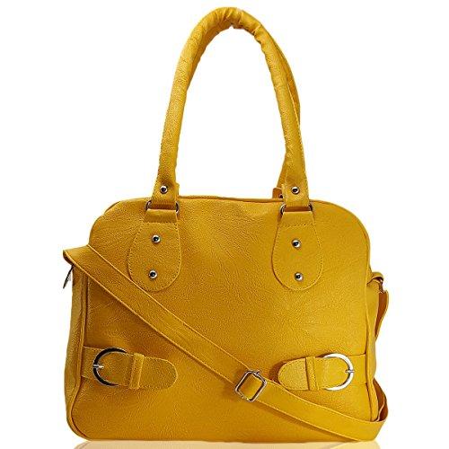 Typify Casual Shoulder Bag With Sling Belt Women & Girl\'s Handbag (Yellow)