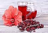 Fleurs d'Hibiscus Séchées Bio Premium - Bissap - karkadé bio - 50g - Hecosfair - Infusion - Tisane Bien-être Vegan