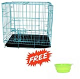Sri Dog Cage For Dog With Removable Tray (18Inch) (Light Blue)