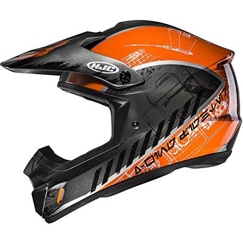 CX2XWL – HJC CS-MX II Rebel X-Wing Star Wars Motocross Helmet L Black Orange (MC7)