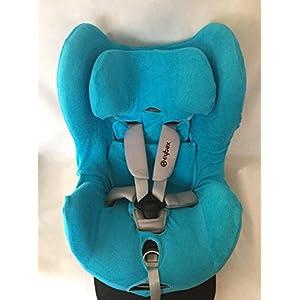 Sommerbezug Schonbezug für Cybex Sirona und Sirona plus Frottee 100% Baumwolle türkis + Bezug für den Fangkörper