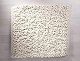 TISCA Originaler Handweb Teppich Olbia COLLINA Extrem Hochwertig verarbeiteter handgewebter handwebteppich in schwerster Luxus Qualität (Muster, 1001 Weiss)