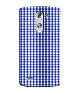 FUSON Designer Back Case Cover for LG G3 Stylus :: LG G3 Stylus D690N :: LG G3 Stylus D690 (Seamless Pattern Blue Design Drawing )