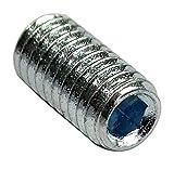 Aerzetix: 50 Schrauben kopflose Schrauben M4x8 DIN913 Stahl verzinkt Allen 2mm C18303
