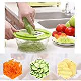 5 in 1 Multifunctional Fruit Vegetable Cutter Slicer Chopper Gadgets Tool Fruit Slicing Tools Amazon Rs. 1824.00