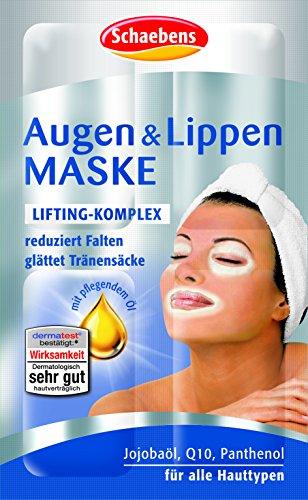 Schaebens Augen und Lippen Maske, 15er Pack (15 x 6ml) (Tocopherol Vitamin E-acetat)