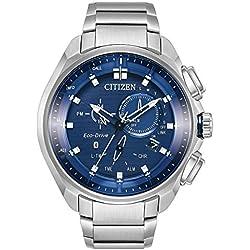 Citizen Reloj de hombre eco-drive correa y caja de acero BZ1021-54L