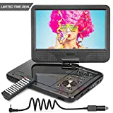 """12.5"""" Portable DVD Player with 5 Hours Built-in Rechargeable Battery, USB Port, SD"""