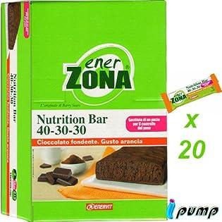 enerZONA bar Nutrition arancia cioccolato fondente box da 20 - 51Y3Q6yj4qL. SS315