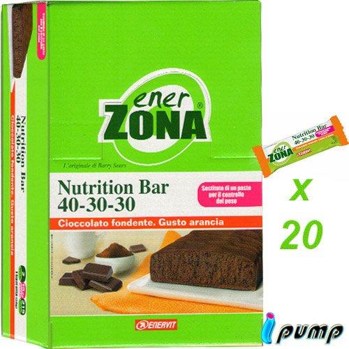 enerZONA bar Nutrition arancia cioccolato fondente box da 20 - 51Y3Q6yj4qL