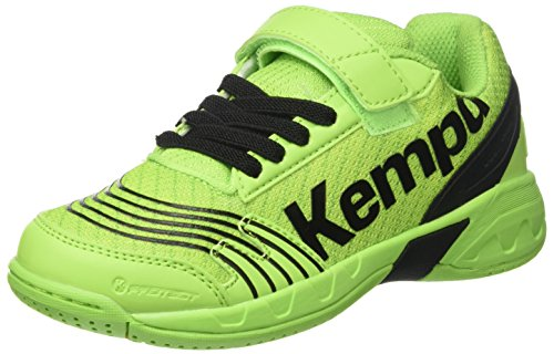 Kempa Attack Junior, Scarpe da Pallamano Unisex – Bambini, Verde (Vert Espoir/noir), 33 EU (1 UK)