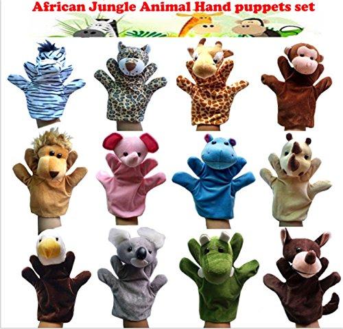 Alpacasso YNSD Nette Tier Plüsch Handpuppen Set, Weichem Plüsch Fingerpuppen Tier Spielzeug. (Jungle Animal Hand Puppets)