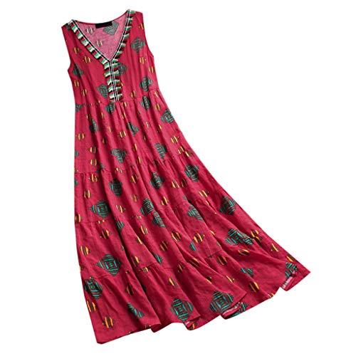 LILICAT_Kleider Damen Mode Kleid ärmellose Blume Minikleid V-Ausschnitt Strandkleid Kurzes Kleider Trägerlos Strand Rock Retro Abendkleid Jumpsuit