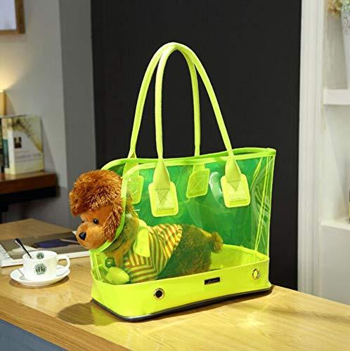 HS-ZHAO02 Taschen Für Kleines Haustier Katze Träger Hund Rucksack Outdoor-Handtasche Airline Tragbare Tasche Schulter Travel Tote Gepäck,Green,L43*23 * 32cm -
