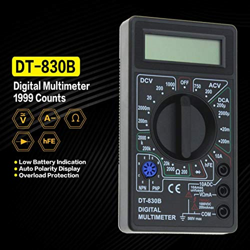 TESTER DIGITALE MULTIMETRO ELETTRICO DT-830B TASCABILE