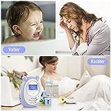 DBPOWER digitales Babyphone mit Temperatursensor, Zwei-Weg und Gegensprechfunktion, 300m Reichweite um immer im Kontakt mit Babys zu bleiben - 3