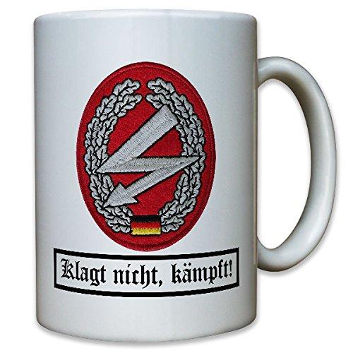 Barettabzeichen Fernmelder EloKa Elektronische Kampfführung FM Funker Andenken BW Bundeswehr - Tasse Kaffee Becher #10952