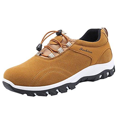 Damen Schnürhalbschuhe Künstlich-Veloursleder-Leder Oxfords Stiefel Freizeitschuhe Mädchen Braun 39 vySgEgma