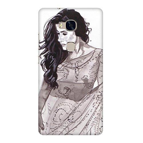 Kajol in saree sketch design Huawei Honor 5X all side printed hard...