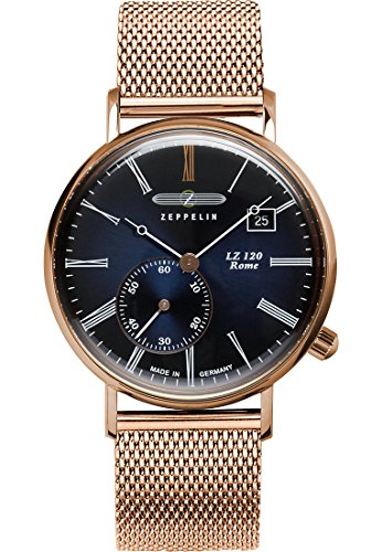 Zeppelin Women's Quartz Watch with Black Dial Analogue Display Quartz – One size – Blue/Rose