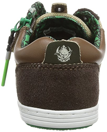 Kickers Yoda K Low Jungen Sneaker Braun - Marron (Marron/Beige Foncé)