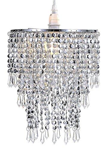 WanEway 3 Stufiger Perlen Decken Kronleuchter Anhänger Lampenschirm Mit  Acryl Juwelen Tröpfchen, Per